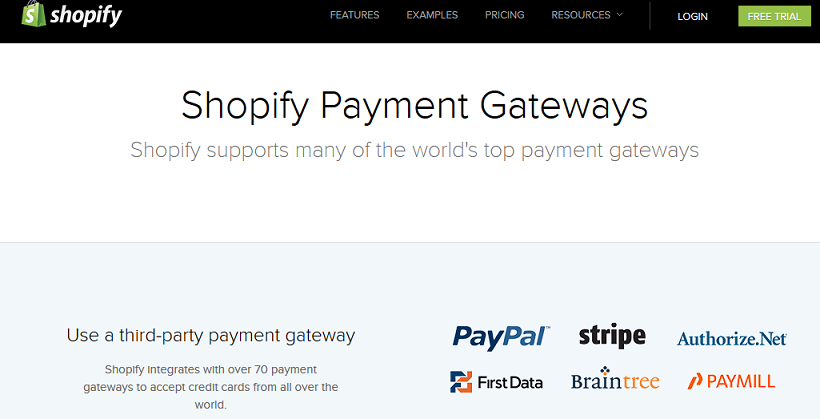 Shopify Payment Gateways